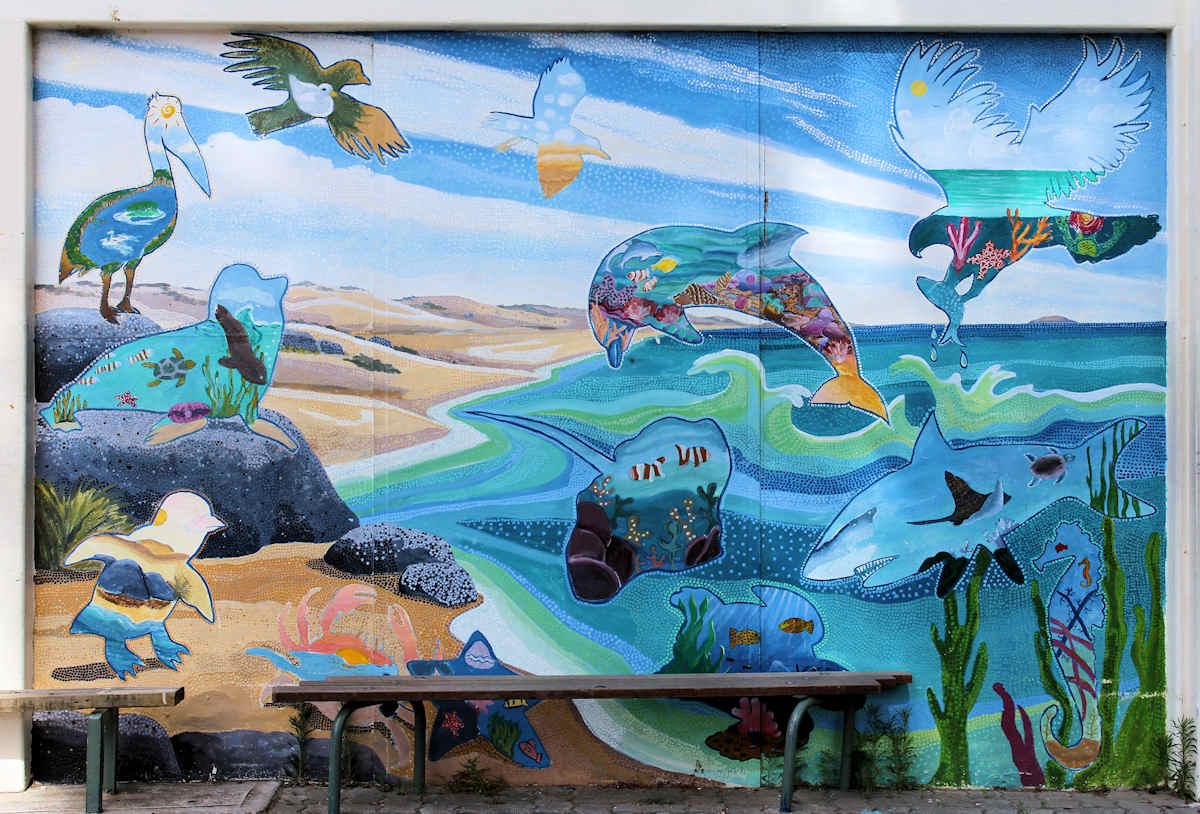 Desert Wall Murals Christine Lawrence Coastal Mural Christine Lawrence